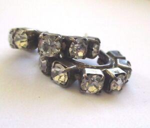 Boucles D'oreilles Percées Bijou Vintage Couleur Argent Cristal Diamant 3455 Demande DéPassant L'Offre
