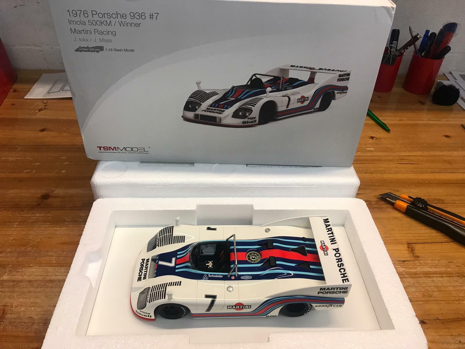 TSM True Scale Porsche 936 76 Martini  7 Imola 500km winner 1976 1 18