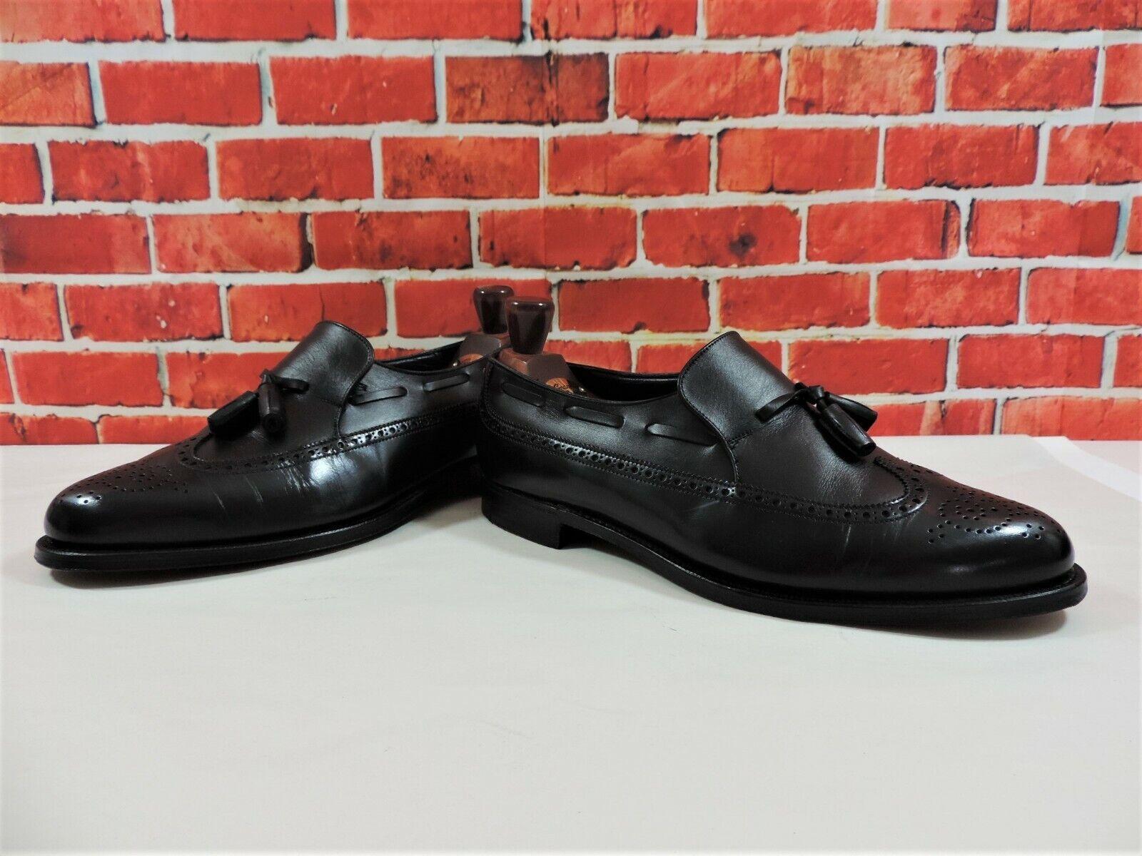 Crockett & Jones Zapato Oxford Mocasines con Borlas US 9.5 Ue 42,5 Muy