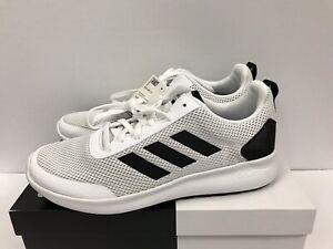 Adidas Mens White Black Cloudfoam Argecy Running Shoes Size 9 B44856 ... 85b835d13