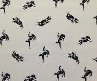 P Kaufmann Rodeo Black White Horse Cowboy Multiuse Fabric By The Yard 67w