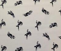 P Kaufmann Rodeo Black White Horse Cowboy Multiuse Fabric By The Yard 67w
