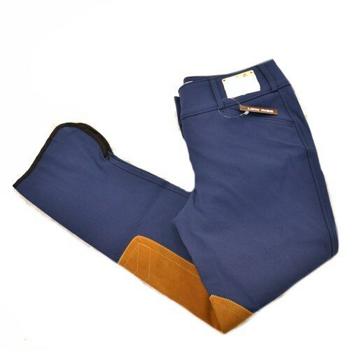 Tailored Sportsman Low Rise Front Zip Trophy Breeches - 1967 - Moody bluee