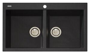 Oliveri-Santorini-Double-Bowl-Black-Sink