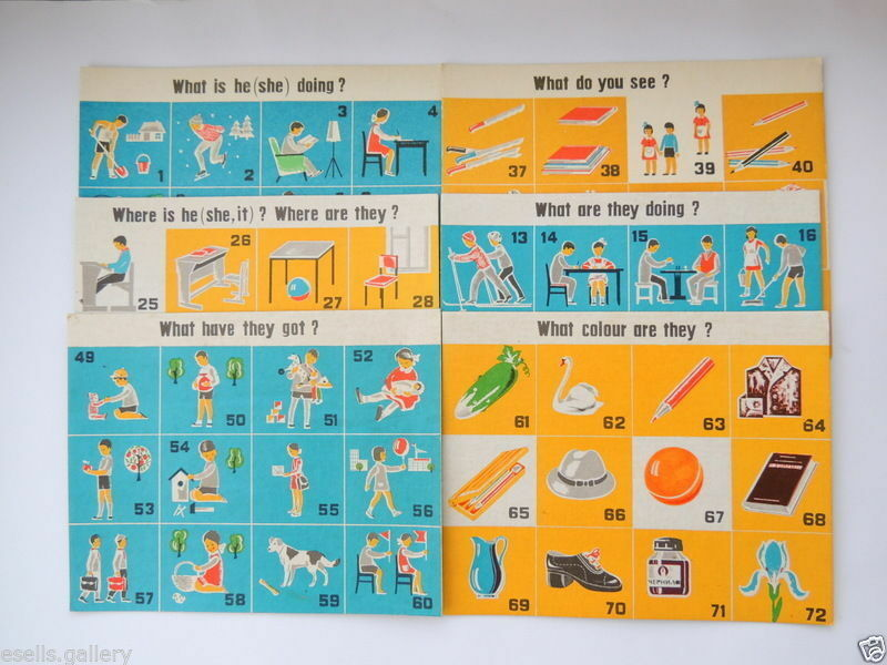 SPEAK ENGLISH Kids Game Table Board Fun Family Vintage Soviet Russian Xmas Gift