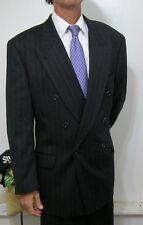 NEW NWOT Hugo Boss DB Charcoal Gray Banker's Stripe Cashwool Blend Suit 44 R Reg