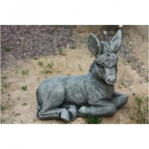 Sculpture D\'Animal Âne Ciment Animal Mule Décoration de Jardin Noël ...