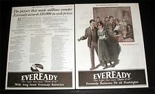 1921 OLD MAGAZINE PRINT AD, EVEREADY DAYLO FLASHLIGHTS, $10,000 CONTEST WINNERS!