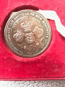 Rare Queen Victoria Commemorate Coin 60th Year Of Her Reign Very High Grade