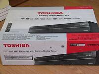 Toshiba Dvr670 Dvd Vhs Recorder Player Combo W/ Built In Tuner Black D-vr670