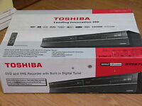 Toshiba Dvr670 Dvd Vhs Recorder Player Combo W/ Built In Tuner Black D-vr670