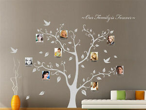 Hand Carving Photo Frame Tree Wall Art Wall Stickers Wall Decal Uk