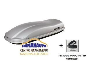 Grigio goffrato baule Farad Marlin F3 N6 480 lt (box Auto Portabagagli Tetto)