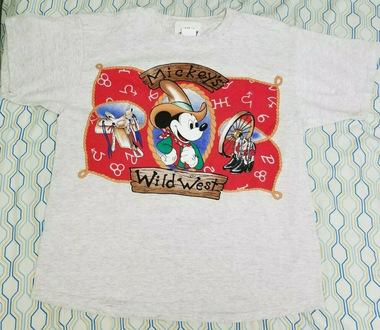 VTG 90s Disney Jerry Leigh Wild West Mickey Mouse… - image 2