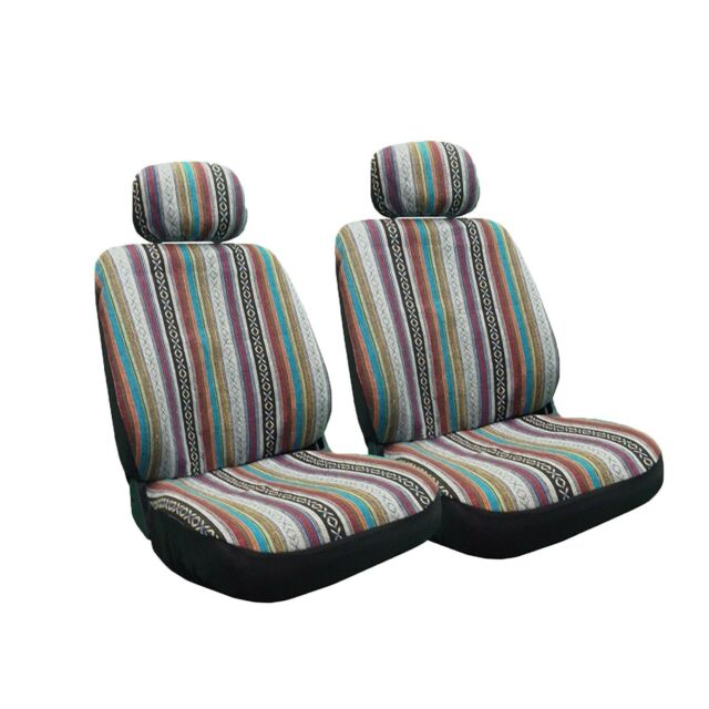 Baja Inca 8pc Saddle Blanket Seat Covers Set Front Pair Bench For