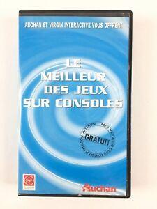 Détails Sur Le Meilleur Des Jeux Sur Console Vhs Cassette Promo Auchan Virgin Ps1 Saturn