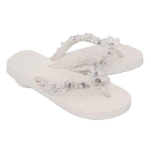 Lujo flip flops-chanclas by Simone herrera-floral Line-Lena