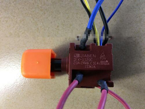1PC NEW JIABEN DFK-1120C 20A 24VDC 1E4 Electric drill switch #V5837 CH
