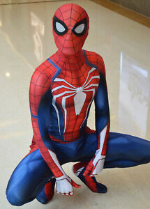 Details about Halloween PS4 Spiderman Costume Insomniac Games Version  Spider-Man Cosplay Suit