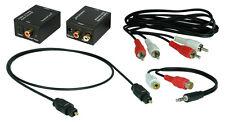 Digital zu Analog Audio Konverter+1,5m Toslink+Cinch Kabel+Klinke-Cinch Adapter*