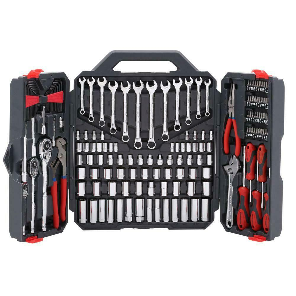 Crescent Mechanics Tool Set Alloy Steel Blow Mold Storage Case 170 Piece Kit