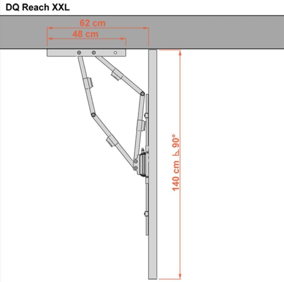 Tv ophæng, DQ Reach XXL 91 cm Sort, Perfekt