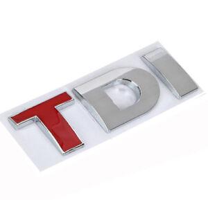 X1-Tdi-Badge-Coffre-Logo-3D-Autocollant-Embleme-VW-Golf-Polo-EOS-Scirocco-Rouge