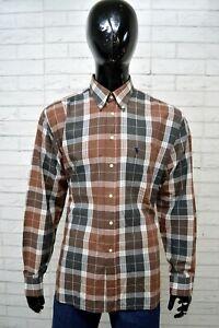 Camicia-OXER-Uomo-Taglia-Size-XL-Maglia-Chemise-Shirt-Man-Quadri-Cotone-Regular
