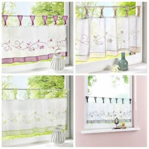 Panel Kitchen Made Voile Net Curtains