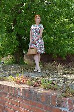 Kleid dress Rockabilly Petticoat Rose Rosen Floral Blumen 50er True VINTAGE 50´s