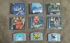 Nintendo N64, dreamcast, PlayStation Dreamcast game lot Glover wcw Nasscar 99
