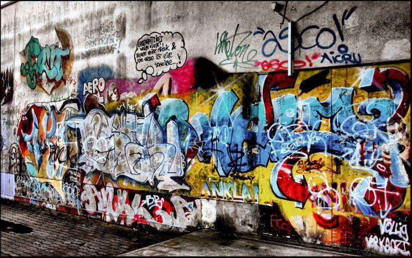 3D Roadside Graffiti 51 Wall Paper Wall Print Decal Wall Indoor AJ Wall Paper