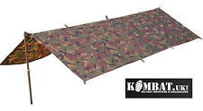 Army Waterproof Military Combat Basha Shelter Poncho Camo US & British Army Tent