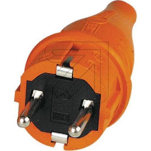 Schukostecker ABL Gummi Stecker orange Signalstecker Spritzwassergeschützt