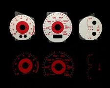 99-03 Mazda Protege 5 Red Indigo Glow White Gauges 99 00 01 02 03(RCF-185)