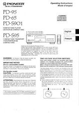 Pioneer PD-95 CD Player Owners Manual