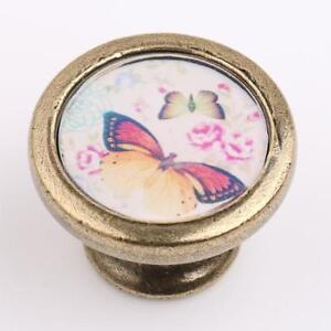 Shabby-Antique-Brass-Knob-Kitchen-Cupboard-Wardrobe-Pull-Handle-Butterfly-4