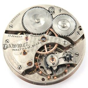 1900-WALTHAM-GRADE-SPECIAL-16S-17J-MENS-POCKET-WATCH-MOVEMENT-amp-DIAL