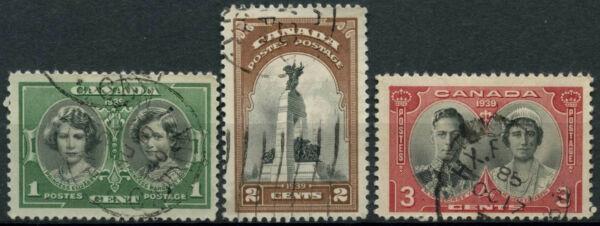 100% Vrai Canada 1939 Sg#372-4 Visite Royale Utilisé Set #e883