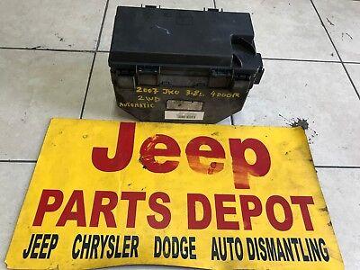 2007 jeep fuse box 2007 jeep wrangler jk 2wd fuse box relay 4 door oem 04692289ac ebay 2007 jeep fuse box 2007 jeep wrangler jk 2wd fuse box