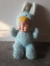 Vintage Bantam Rubber Face Bunny Rabbit Baby Doll Stuffed Animal Jingle sound