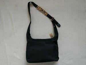 Moschino-463180-Black-Nylon-Crossbody-Bag-Made-in-Italy