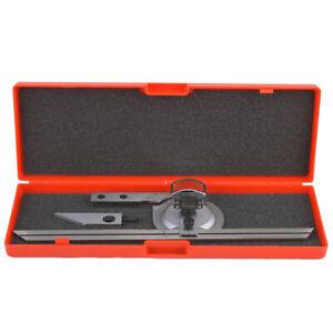 0-360° Precision Universal Bevel Protractor Magnifier Vernier Angular Ruler