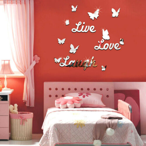 Live Laugh Love Quote Removable Wall Stickers Mirror Decal DIY Room Decor Ch FJ
