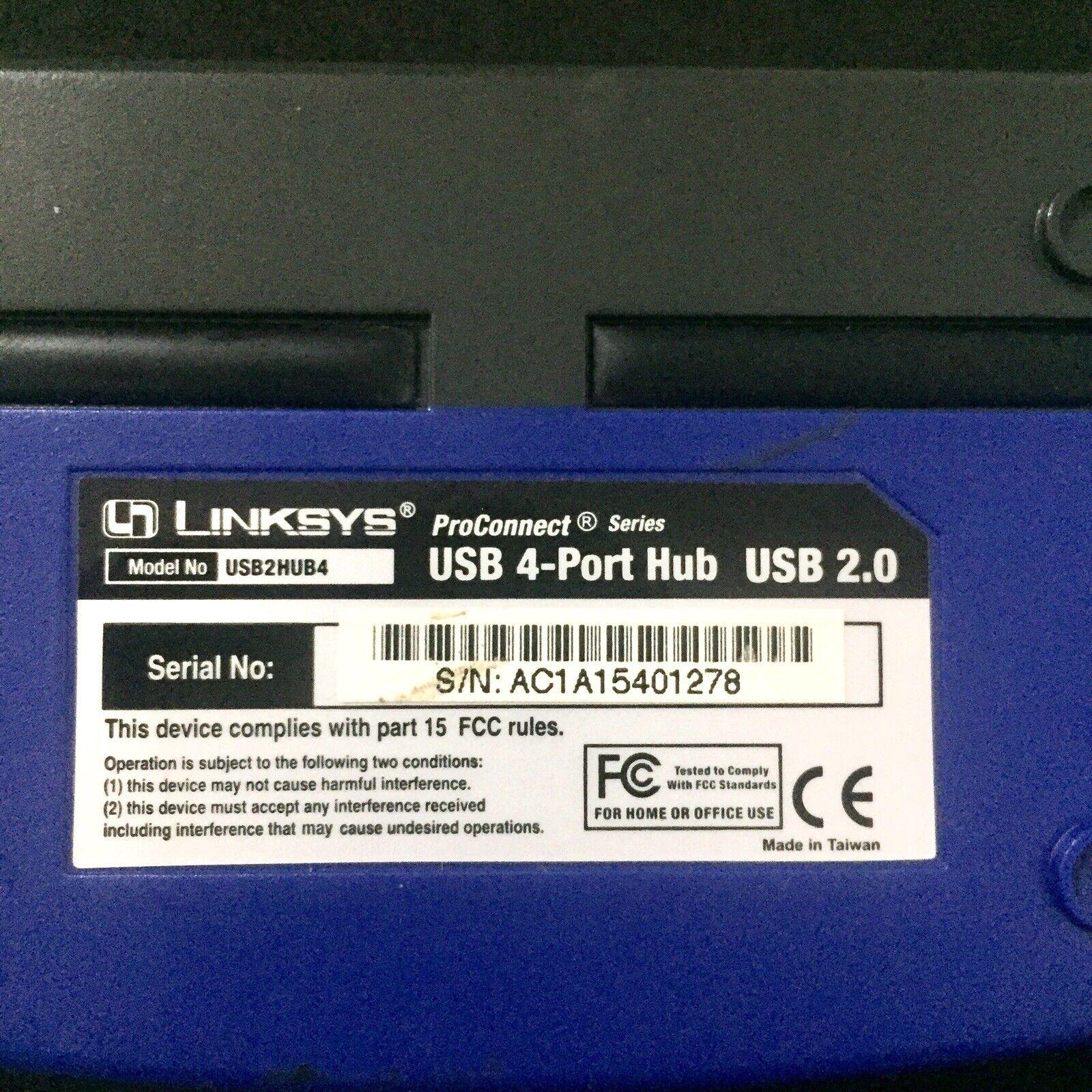 Linksys USB2HUB4 4 Port USB Hub Type A