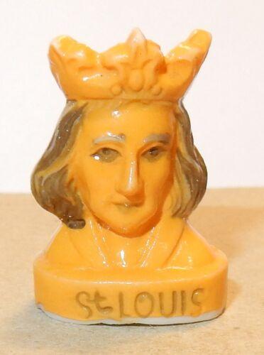 FEVE CERAMIQUE BUSTE LOUIS IX SAINT LOUIS ROI FRANCE 1226-1270 3D