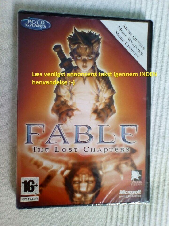 Fable The Lost Chapters (ny, i uåbnet folie), til pc
