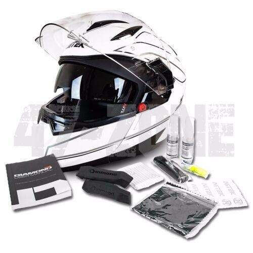 NiTEK Transformer Modular Motorcycle Helmet W// Bluetooth Option Dual Visor DOT