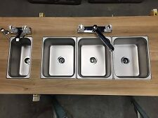 Concession NSF Sink Standard 1small Hand Wash 4 Compartment 3 Large Food Trailer