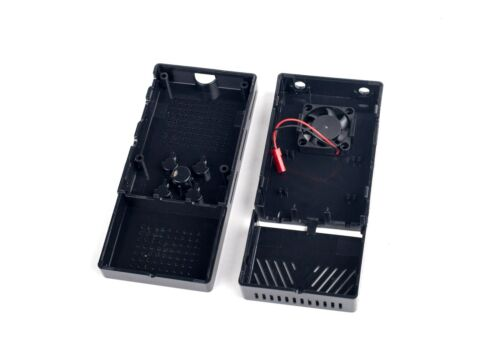 Black Case with Fan for Stratux ADS-B Kit Matte Finish Tool Free Assembly